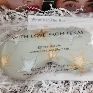 Free People Starry Eyed Travel Eye Mask in Grey